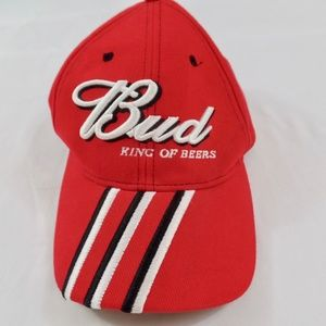 Other - Bud Budweiser King of Beers Hat Red - Adjustable